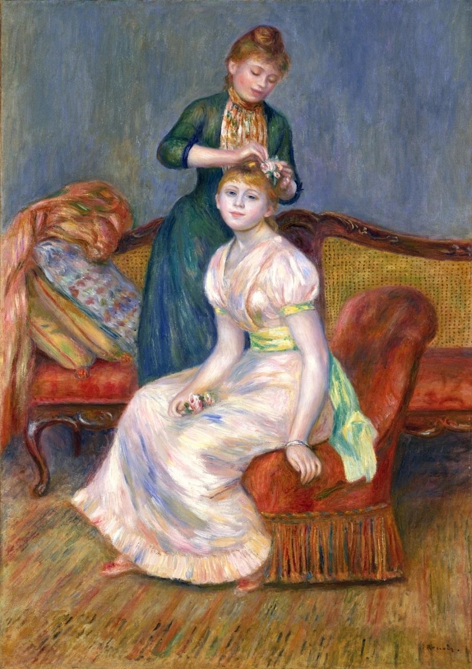 ②ルノワール《髪かざり》1888年