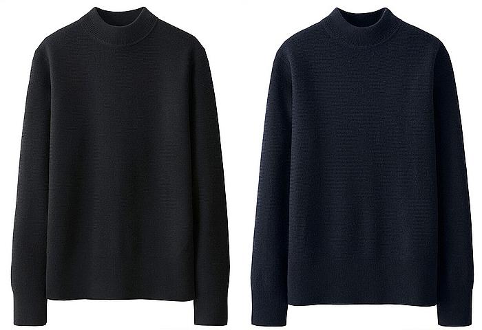 ユニクロ_MEN メリノブレンドモックネックセーター(長袖)+E_-_UNIQLO_ユニクロ