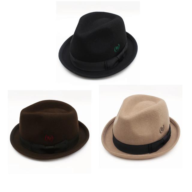 帽子 roll felt hat